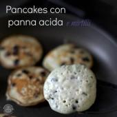 Nondisolopane - Pancakes con panna acida e mirtilli