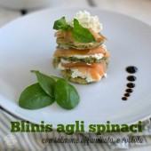 Nondisolopane - Blinis agli spinaci con salmone affumicato e robiola