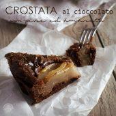 Nondisolopane - Crostata al cioccolato con pere e amaretti