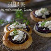 Nondisolopane - Sfogliatine con cipolle caramellate e Sarazzu