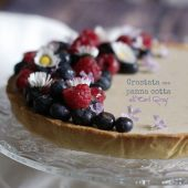 Nondisolopane - Crostata con panna cotta all'Earl Grey