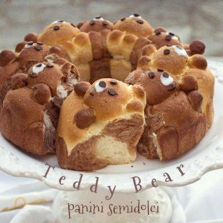 Nondisolopane - Panini semidolci:Teddy Bear pull apart buns