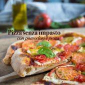 Nondisolopane - Pizza senza impasto con pomodori e pesto