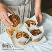 Nondisolopane - I muffins perfetti: con panna e gocce di cioccolato