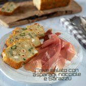 Nondisolopane - Cake salato con asparagi, nocciole e Sarazzu