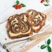 Nondisolopane - Plumcake allo yogurt variegato al caffè e cioccolato